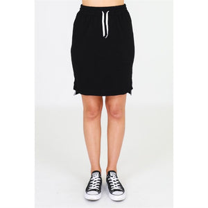 3rd Story Alice Skirt in Sky Black Cotton Skirt elasticated waist 3rd Story Skirt Basic State