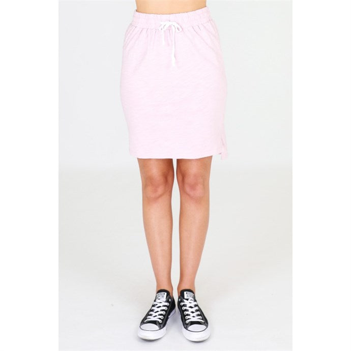 3rd Story Alice Skirt in Pink Blush Marle, Cotton Skirt elasticated waist 3rd Story Skirt Basic State