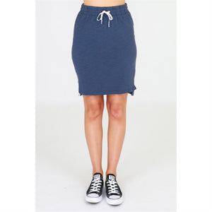 3rd Story Alice Skirt in Sky Indigo Cotton Skirt elasticated waist 3rd Story Skirt Basic State