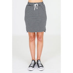 3rd Story Alice Skirt in Sky Stripe Cotton Skirt elasticated waist 3rd Story Skirt Basic State