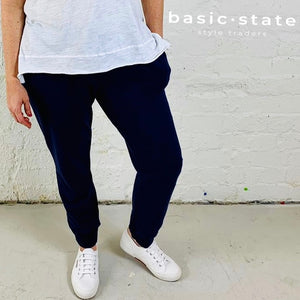 Plus Size Ladies Pants Curve 3rd Story Basics Brooklyn Joggers - Basic State