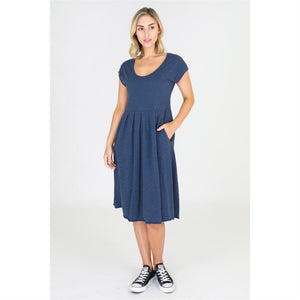 3rd Story Cotton Dress Evelyn Dress - Indigo - Basic State