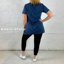 Curve and Plus Size 3rd Story Brighton Tee indigo Basic State Plus size ladies clothing