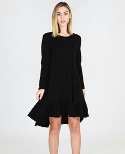 3rd Story Stacey Dress - Long Sleeve Dress - Black Dress - Long Sleeve Hilary Dress - Basic State