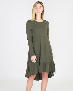 3rd Story Stacey Dress - Long Sleeve Dress - Khaki Dress - Long Sleeve Hilary Dress - Basic State