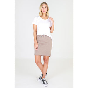 3rd Story Alice Skirt in Sky Latte Cotton Skirt elasticated waist 3rd Story Skirt Basic State