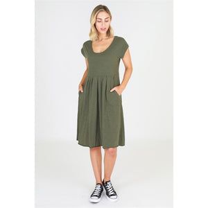 3rd Story Evelyn Dress - Khaki - Basic State
