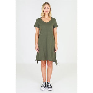 3rd story dress Megan Dress Tshirt Dress Cotton Dress Basic State Megan Dress Khaki