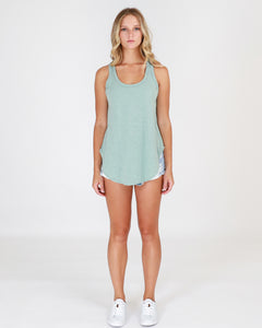 3RD STORY the label HAMILTON TANK singlet  - GREEN LEAF basic state