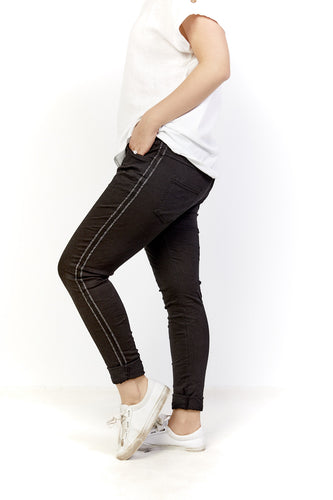 Amici made in Italy Stockist - Cotton Pull up Pants - Azzura Pants - Basic State Amici Australian Stockist