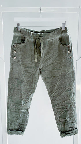 Amici made in Italy || Donatella Joggers - Militare