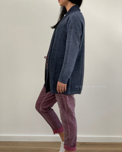 Amici Made in Italy Open Cardigan Blue Cardigan with Tie Waist - Basic State Amici Made in Italy Stockist