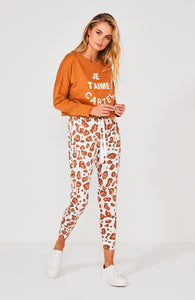 Cartel & Willow Kenji Comeback Safari Print Pants Rust Leopard -  Basic State Australia