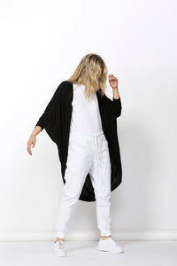 Santorini Drape Cardigan Betty Basics Santorini Drape Cardigan Black Cardigan Long Cardigan Basic State