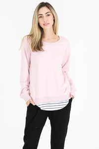 Plus Size || 3rd Story The Label Newhaven Sweater -  Marshmallow
