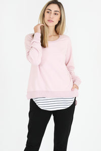 3rd Story Stockist - Basic State 3rd Story Ulverstone Jumper Ulverstone Sweater - Pink Marshmallow