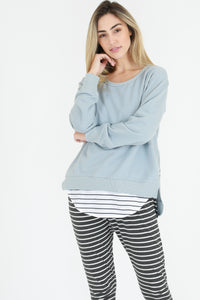 3rd Story Stockist - Basic State 3rd Story Ulverstone Jumper Ulverstone Sweater - Storm Blue Pale Blue