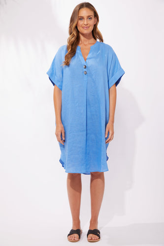 Basic State Haven Clothing Stockist Haven Clothing Majorca Shirt Dress Marina Blue Haven Tshirt Dress Stockist