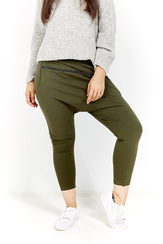 Amici made in Italy || Slouch Pant - Khaki