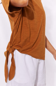 Shop Haven Clothing online - Basic State - Haven Clothing - Majorca Tshirt Top - Caramel - 7734204