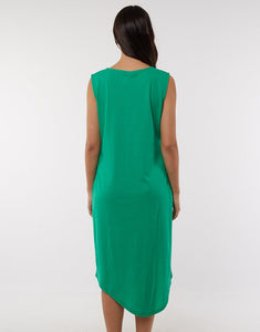 Elm Clothing Wonderland Dress Emerald Green Elm Dress Basic State