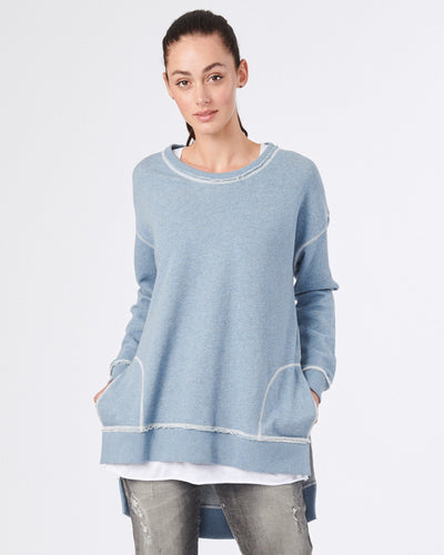 Basic State Jac and Mooki Jumper Sweater Denim Marle, Jack and Mookie Jack and Mooki Jac & Mooki Brixton blue Jumper sweater Jac&mooki casual top basic state