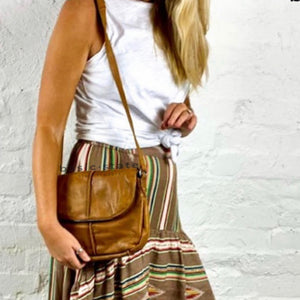 Rugged Hide Cross Body Miranda Bag - Miranda Leather Cross Body Bag Basic State