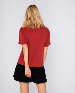 Apero Label Burnt Fig Basic State Apero Burnt Fig Red Tee Tshirt Beaded T-shirt
