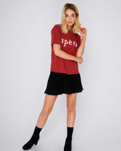 Burnt Fig Apero Tshirt Basic State Apero Burnt Fig Red Tee Tshirt Beaded T-shirt