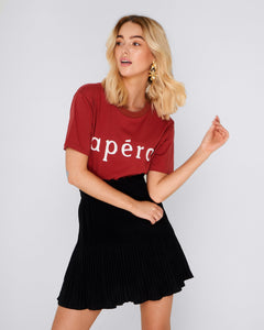 Apero Label Basic State Apero Burnt Fig Red Tee Tshirt Beaded T-shirt