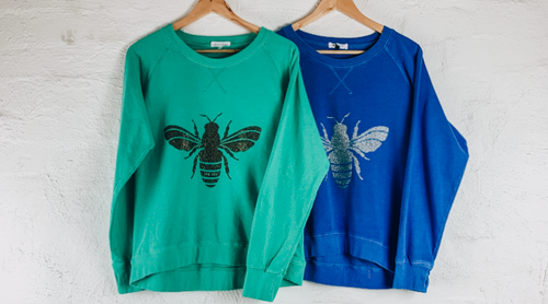 Glitter Bee Jumper Save the Bees Australia Green Bee Jumper and Blue Bee Jumper My Izzi Glitter Bee Sweater
