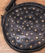Rugged Hide - 'Geneva' Round Studded - Leather Bag