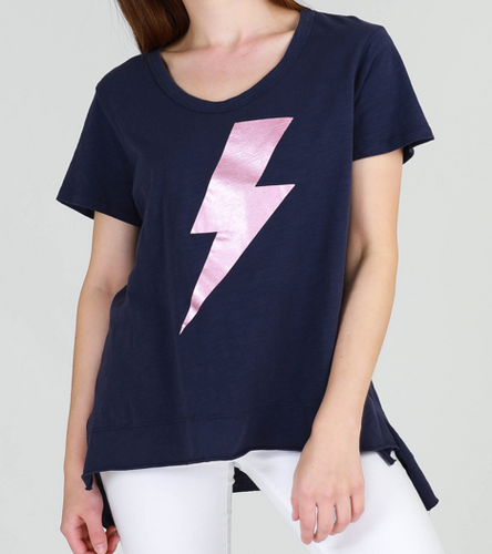 3rd Story The Label Brighton Tee || Lightning Print