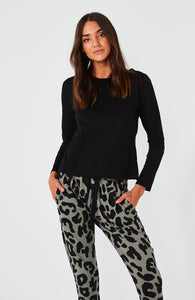 Basic State Cartel & Willow Kenji Comeback Pants in Leopard Print