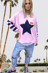 Buy Hammill and co Retro Star Sweater SHOP HAMMILL AND CO PINK STAR SWEATER AUSTRALIAN HAMMILL AND CO STOCKIST MELBOURNE HAMMILL AND CO STOCKIST SHOP HAMMILL AND CO SWEATERS STAR
