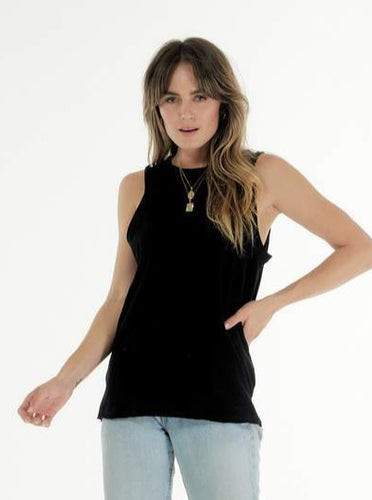 Cle Organic Cotton Clothing Black Ella Tank Organic clothing Basic State Australia Cle Stockist