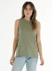 Cle Organic Cotton Clothing Khaki Ella Tank Organic clothing Basic State Australia Cle Stockist PLUS SIZE CLE ORGANIC CLOTHING PLUS SIZE CLE CLOTHING PLUS SIZE ELLA TANK CLE CLOTHING AUSTRALIAN STOCKIST CLE ORGANIC CLOTHING AUSTRALIAN STOCKIST