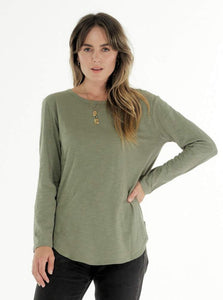 Cle Clothing Cle Organic Clothing Australia Cle Organic Layla Long Sleeve Tee - Basic State Cle Clothing Australian Stockist