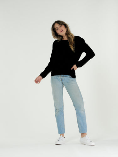 Cle Margo Jumper Black Cle Margot Sweater Basic State Cle Stockist