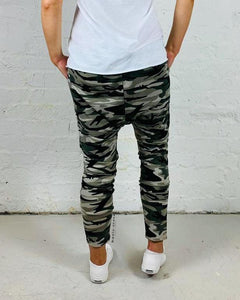 Camo Drop Crotch Pants Combat Slouch Pants - Basic State