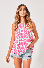 Cartel and willow Ziggy Tank Pink Leopard Tank Available at Basic State