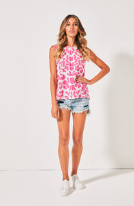 Carte & willow Ziggy Tank Pink Leopard Tank Available at Basic State