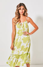 Cartel & Willow Maxi Dress Bondi Frill Dress Lime Crush Basic State