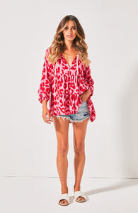 Cartel & Willow Leopard Print Top Cali Shirt Leopard Print Top Animal Print Top Basic State