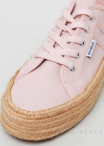 Buy Pink jute wrapped sole shoes - Rope Sole Shoes Rope Canvas Shoes - Rope espadrille shoes - Canvas thick Sole Rope Sole Shoes - Basic State Australia
