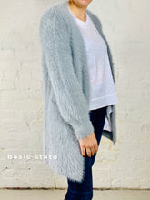 Charlotte Soft Knit Cardigan || Silver