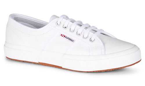 Superga 2750 Leather White Superga Classic Tennis Shoe leather Sneakers White Superga2750 EFGLU ClassicLeather Basic State Style Traders Black Tennis Shoe Runners jogger trainers