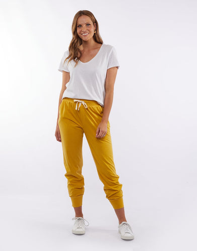 Plus Size || Elm Fundamental Wash Out Lounge Pant - Mustard