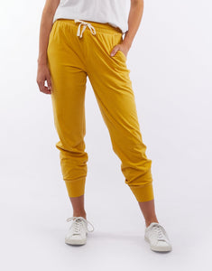 Elm Clothing || Fundamental Wash Out Lounge Pant - Mustard
