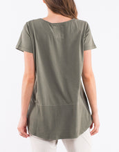 Elm Clothing Australian Stockist Elm Clothing Short Sleeve Rib Tshirt - Khaki -Basic State Australia